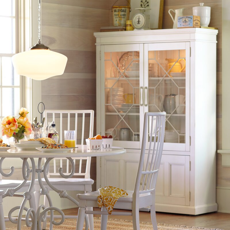 Lisbon Solid Rubberwood Lighted China Cabinet