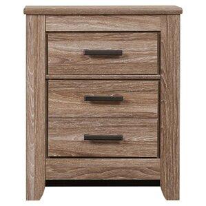 zelen 2 drawer nightstand