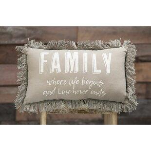 a661b8f2a0a Kinzey Family Where Life Begins Cotton Lumbar Pillow
