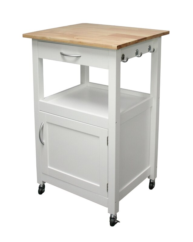 Incroyable Jordan Kitchen Island Cart With Natural Wood Top