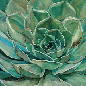 'Agave Flower' Framed Painting Print on Wrapped Canvas