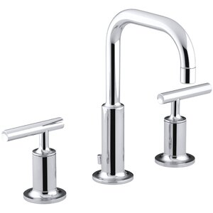 Puristu00ae Widespread Double Handle Bathroom Faucet with Drain Assembly