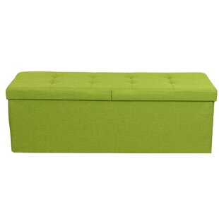 Plush Upholstered Storage Ottoman | Wayfair