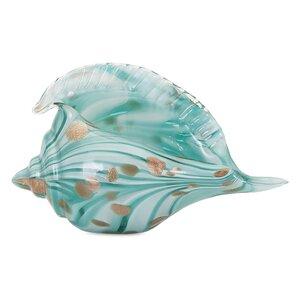 Coastal Glass Shell Sculpture