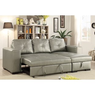 Buchman Linen Like Reversible Sectional With Pull Out Bed