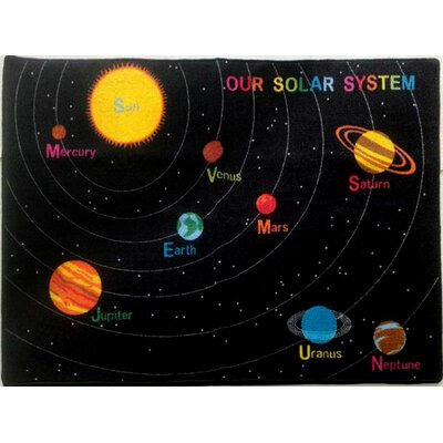Viv Rae Brynn Solar System Black Area Rug Reviews