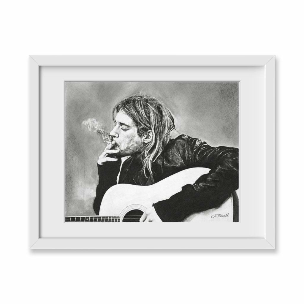 ArtSugar \'Kurt Cobain\' Framed Drawing Print   Wayfair