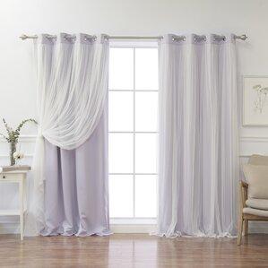 brockham solid blackout thermal grommet curtain panel pair set of 2