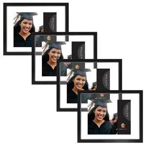 gallery float glass wood picture frame set of 4 - Double Glass Picture Frame