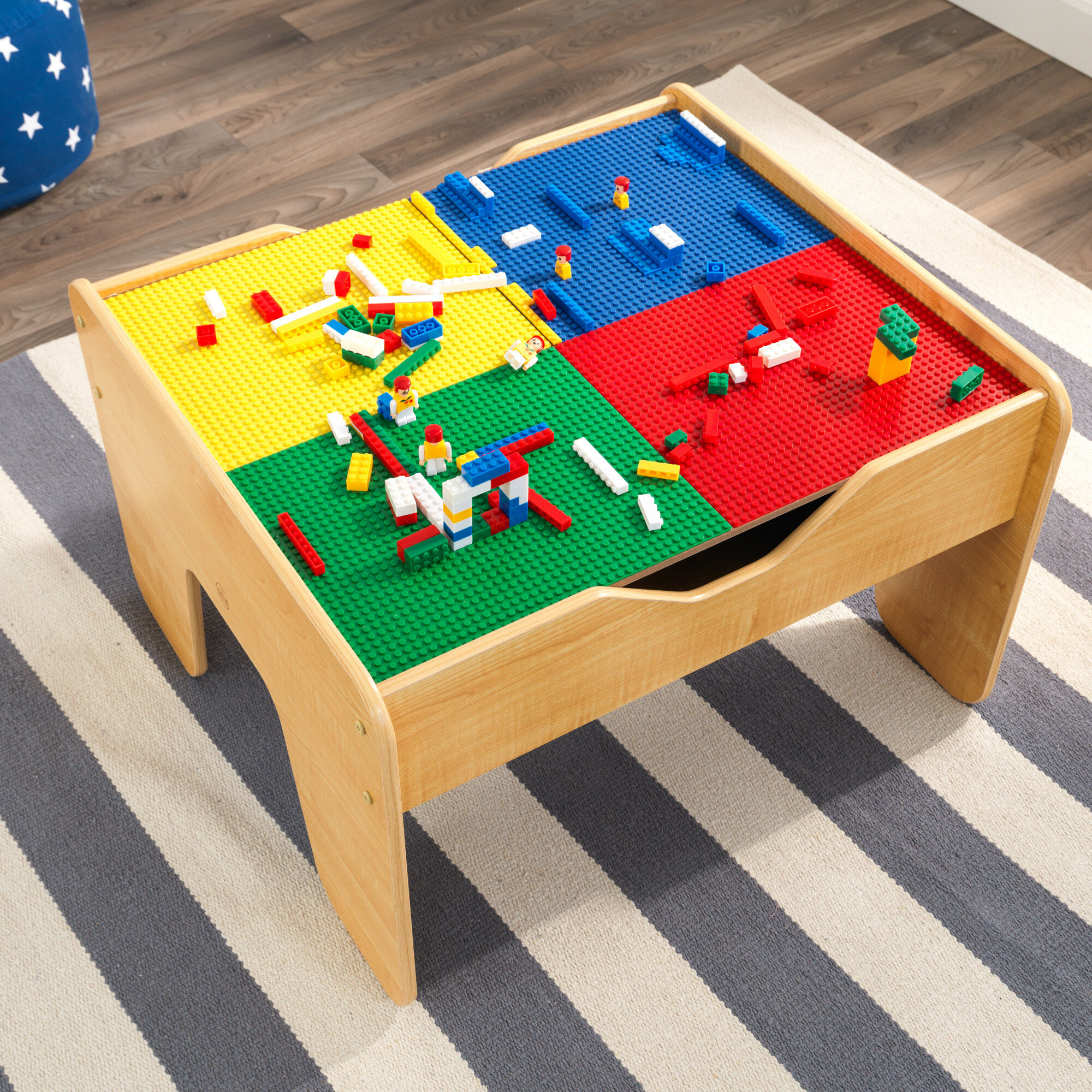 2-in-1 kids activity table
