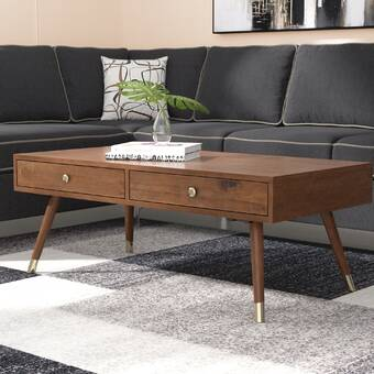 Soto Coffee Table With Tray Top Reviews Joss Main