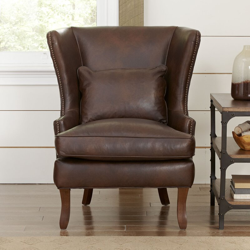 leather living room chair. Solomon Wingback Chair Leather Chairs You ll Love  Wayfair