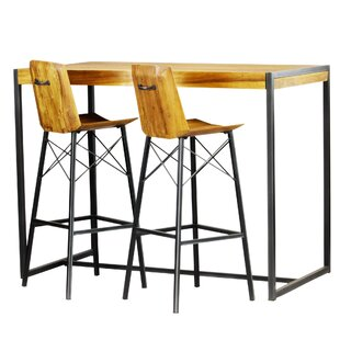 Port Augusta 3 Piece Pub Table Set