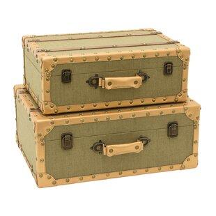 Beau Ousseini Storage Suitcase 2 Piece Trunk Set