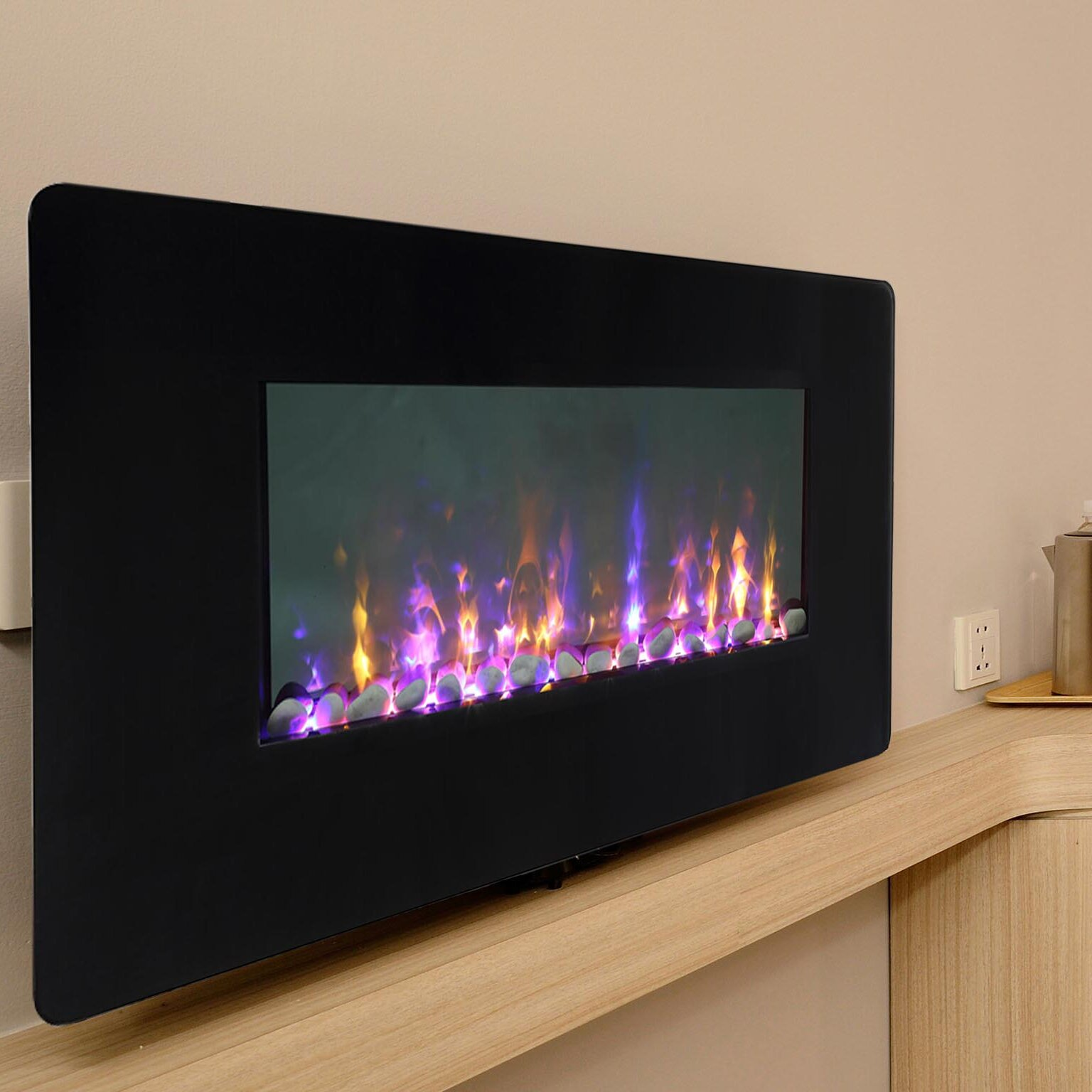 Firefly wi fi smart led wall mounted electric fireplace wayfair solutioingenieria Images