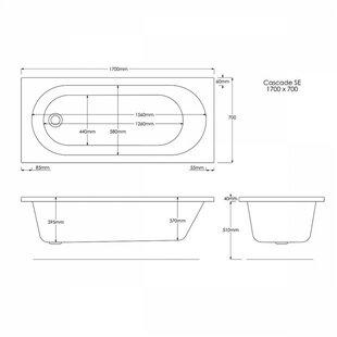 BathTime Straight Single Ended Bathtub by Belfry Basics
