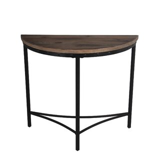 M Reclaimed Wood Metal Console Table