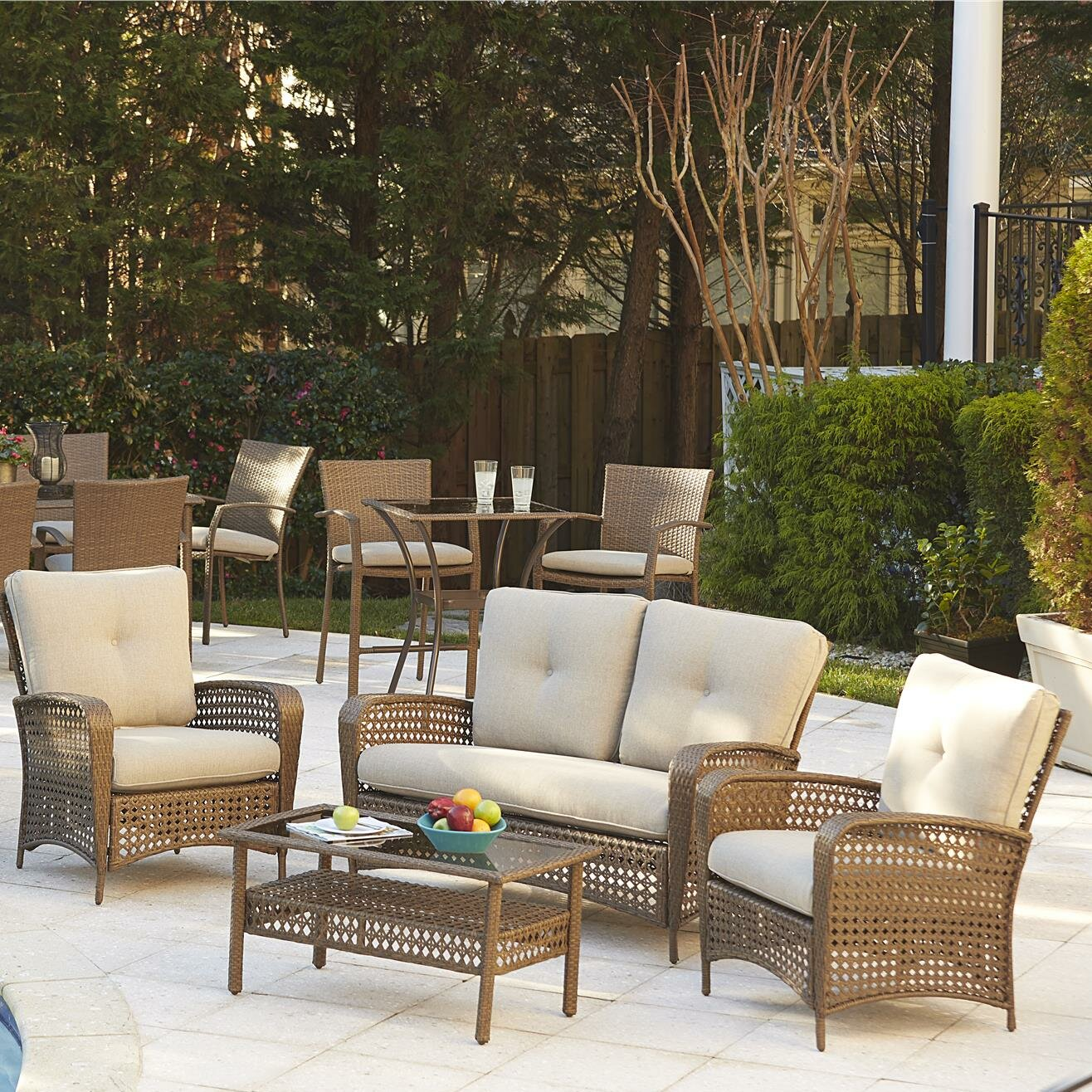 Indoor Wicker Furniture Sets | Wayfair