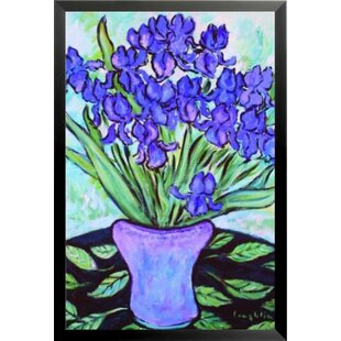 ea8730fc370c  Purple Flowers in a Vase Poster  by Brendan Loughlin Framed Painting Print