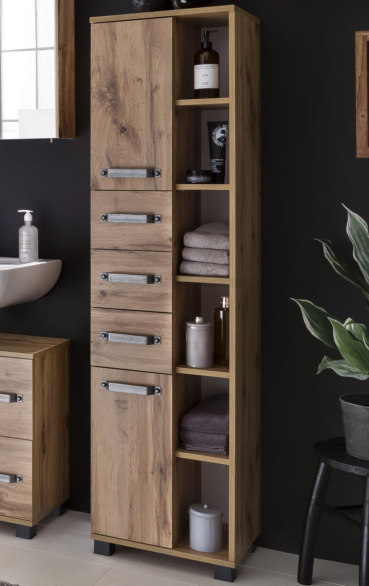 Rebrilliant Albury 41.9 x 163.7cm Tall Bathroom Cabinet & Reviews | Wayfair.co.uk