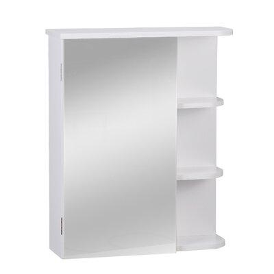 AdecoTrading 17.5 x 22 Surface Mount Frameless Medicine Cabinet
