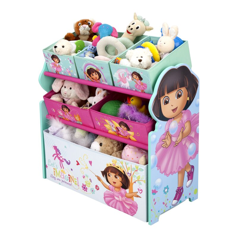 Nickelodeon Dora The Explorer Multi Bin Toy Organizer