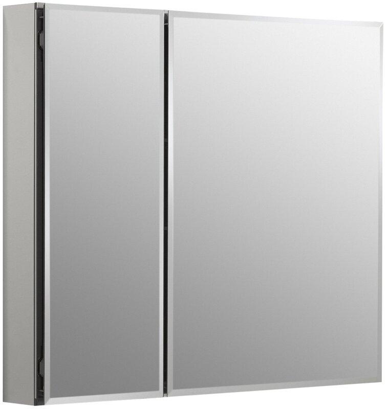 Kohler 30 X 26 Aluminum Two Door Medicine Cabinet With Mirrored D