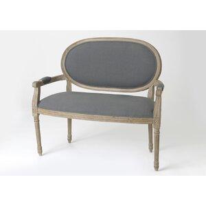 Gepolsterte Sitzbank Medaillon von Maison Aloue..