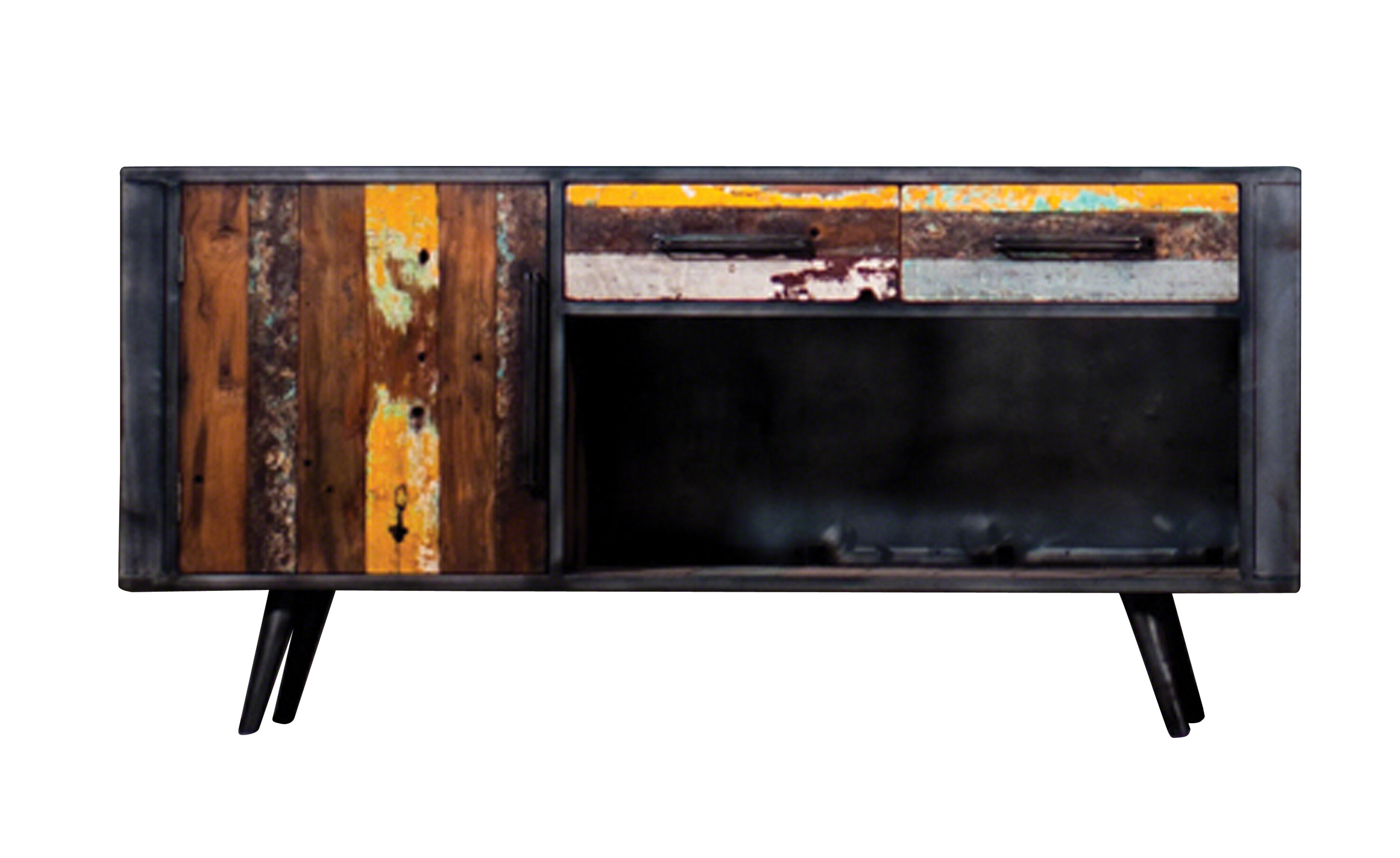Groovy Ainez Recyc Boat Solid Wood Tv Stand For Tvs Up To 65 Download Free Architecture Designs Grimeyleaguecom