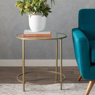 Rose Gold Side Table Wayfair - Wayfair gold coffee table