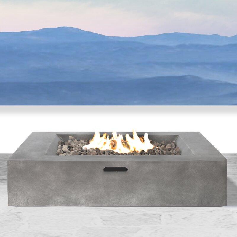 Santiago Concrete Propane Fire Pit Table
