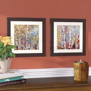 74cc9d9cfa5e  Birch Colors 1  2 Piece Framed Acrylic Painting Print Set
