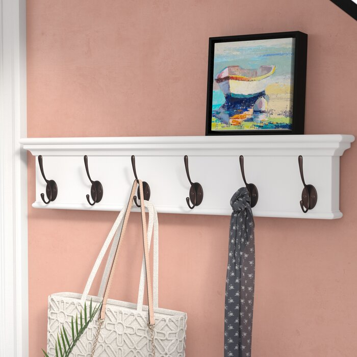 Beachcrest Home Amityville Wall Mounted Coat Rack Reviews Wayfair