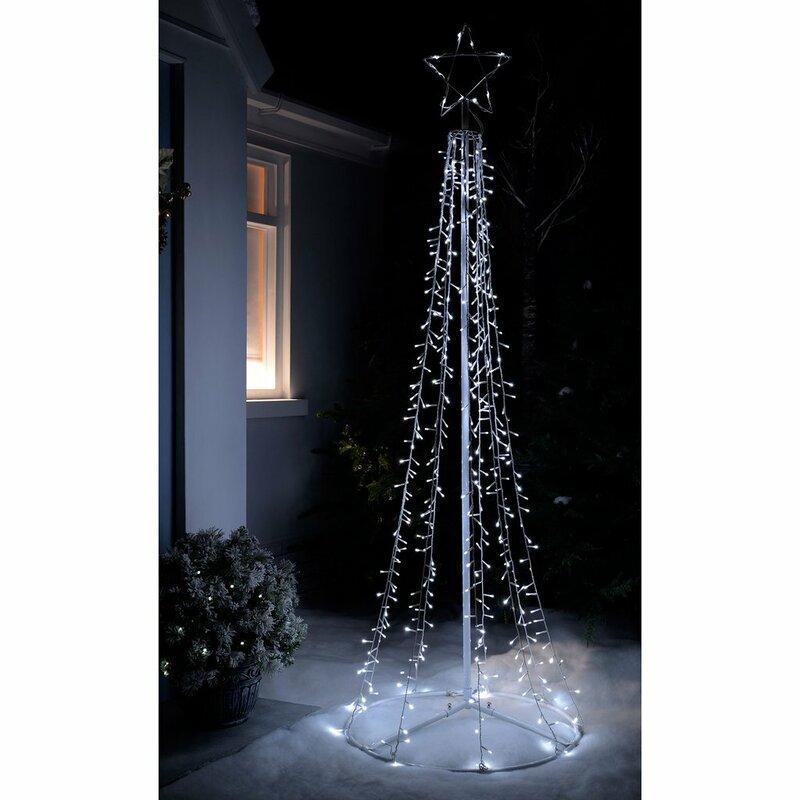 Pre Lit Led Waterfall Pop Up Christmas Tree
