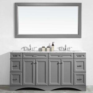 Jonina 72″ Bathroom Vanity Set with Mirror