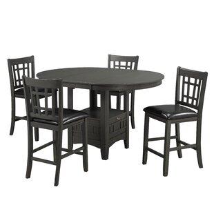 Gerold 5 Piece Pub Table Set