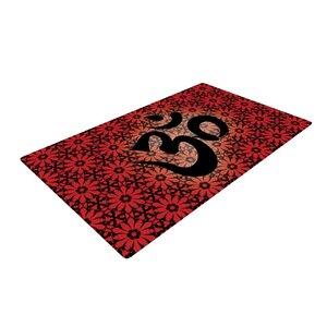 Om Red/Black Area Rug