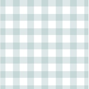 Blue Plaid Gingham Wallpaper Youll Love