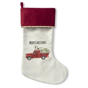 Christmas Truck Stocking