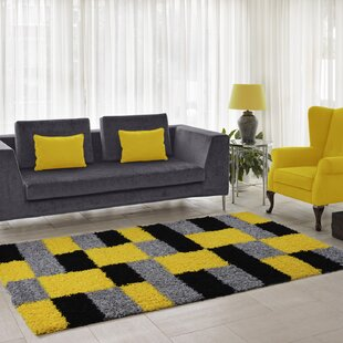 Squared Box Gy Yellow Rug