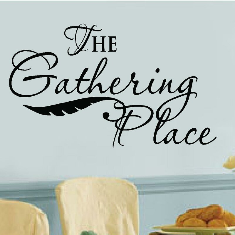 U0027The Gathering Placeu0027 Vinyl Letters Words Wall Decal. U0027 Part 43