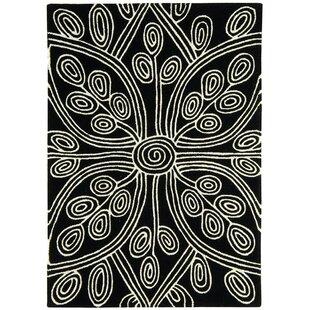 Mandloi Hand-Woven Black Area Rug by Longweave