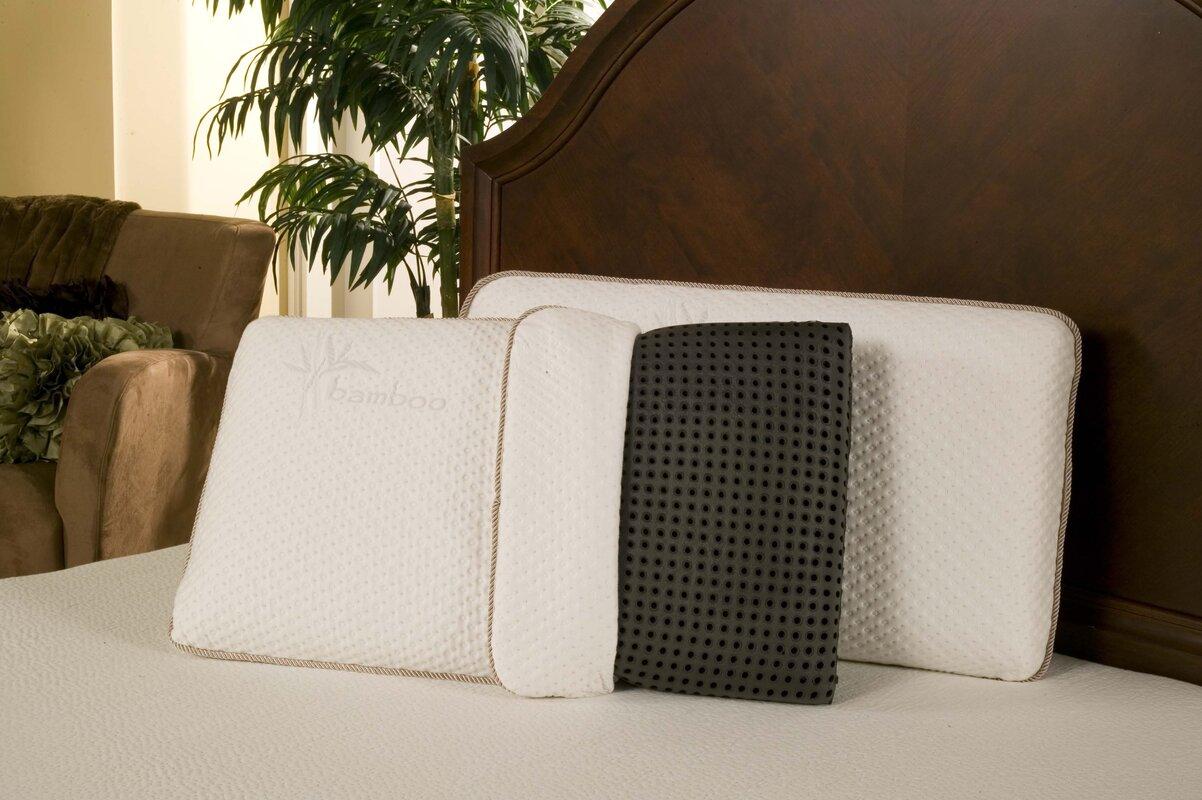 bag itm pillow bamboo memory luxury s anti bacterial premium zip ebay support foam
