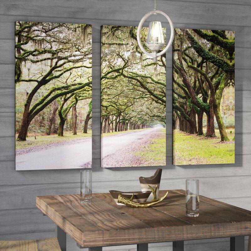 U0027Oak Trees With Spanish Moss In Savanna Georgia 2u0027 By Cody York 3 Piece. U0027