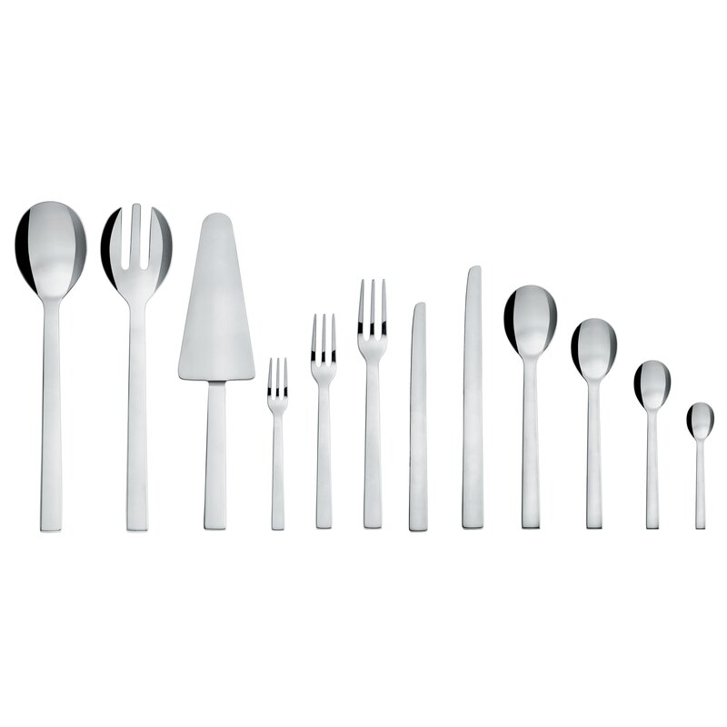 Alessi David Chipperfield 24 Piece 18/10 Stainless Steel Flatware Set, Service for 6  Color: Mirror Polished