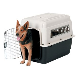 Intermediate Vari Ultra Fashion Dog Kennel® in Bleached Linen and Black by Petmate