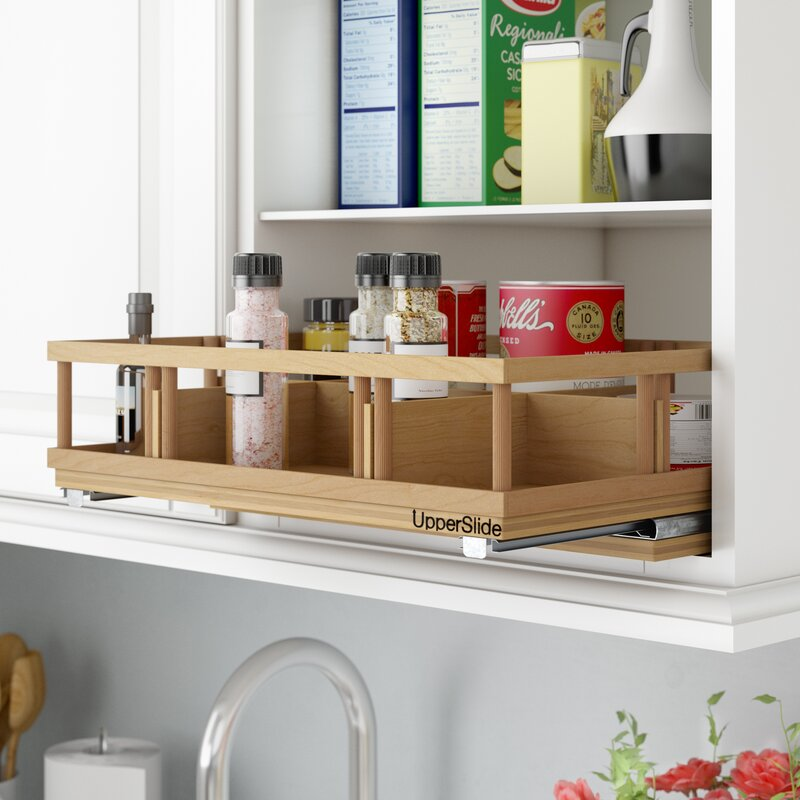 Superieur Upper Cabinet Spice Rack Caddy Large Pull Out Drawer