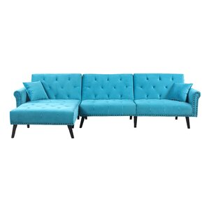 Salcombe Reversible Sleeper Sectional by House of Hampton