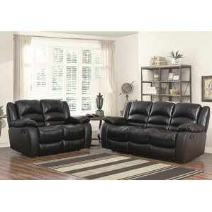 Jorgensen Leather 2 Piece Living Room Set by Darby Home Co