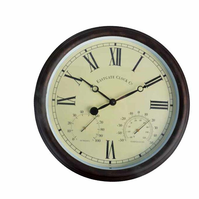 Esschertdesign World Of Weather 15 Quot Roman Numerals Clock